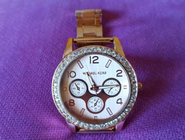 Orologio metallo rosa