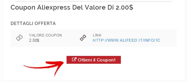Coupons Aliexpress - Guida - Ottenere il Coupon Aliexpress
