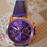 Orologio viola con cronografo