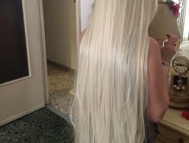 Parrucca lunga 100 cm